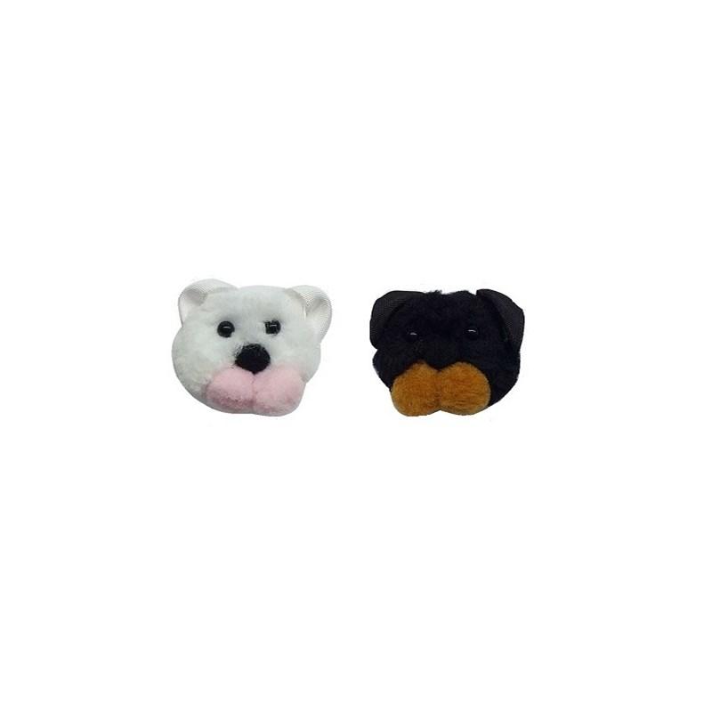 Cachorrinho pom pom - 4 cm c/ 2 unds
