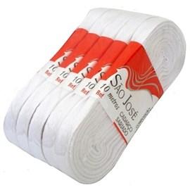 Cadarço algodão sarjado  ref.03008 - 8 mm  - 5 peças c/ 10 mts