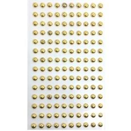 Cartela adesivo ref. ab-ou-4 - meia perola ouro 4 mm c/ 294 unds