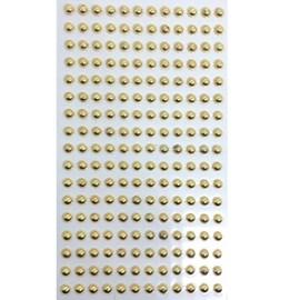 Cartela adesivo ref. ab-ou-5 -perola ouro -  mm c/ 204 unds