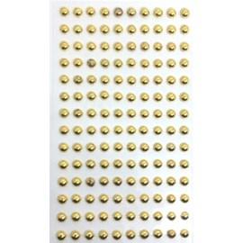 Cartela adesivo ref. ab-ou-6 -perola ouro - 6 mm c/ 140 unds