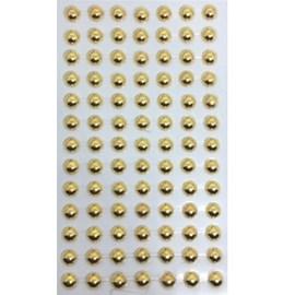 Cartela adesivo ref. ab-ou-8 -meia perola ouro -  8 mm c/ 91 unds