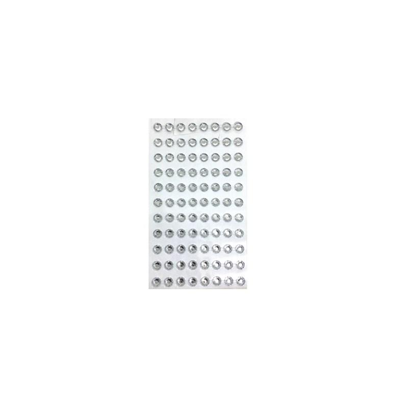 Cartela adesivo strass ref. br-8 tam. 8 mm c/ 88 unds