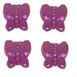 Cartela aplic. borboleta 12 mm c/ 72 unds