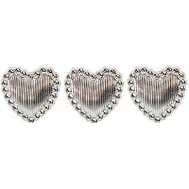 Cartela aplic. coração - 13 mm c/ 45 unds