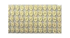 Cartela aplic. pedras t.2-c - 10 mm - c/ 2 tiras