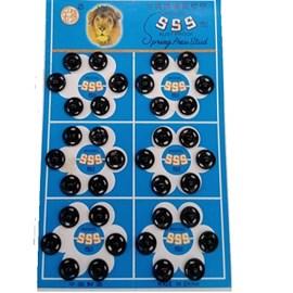Colchete pressão preto n.0 c/ 72 unds