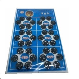 Colchete pressão preto n 1 c/ 72 unds