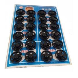 Colchete pressão preto n 4 c/ 48 unds