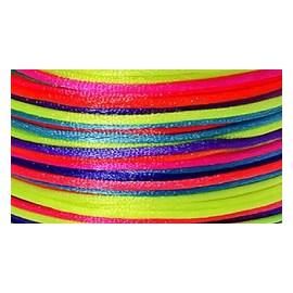 Cordão cetim  multicolor -  2 mm c/ 50 mts