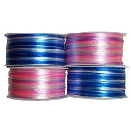 Cordão de cetim multicolor - 2 mm c/ 50 mts