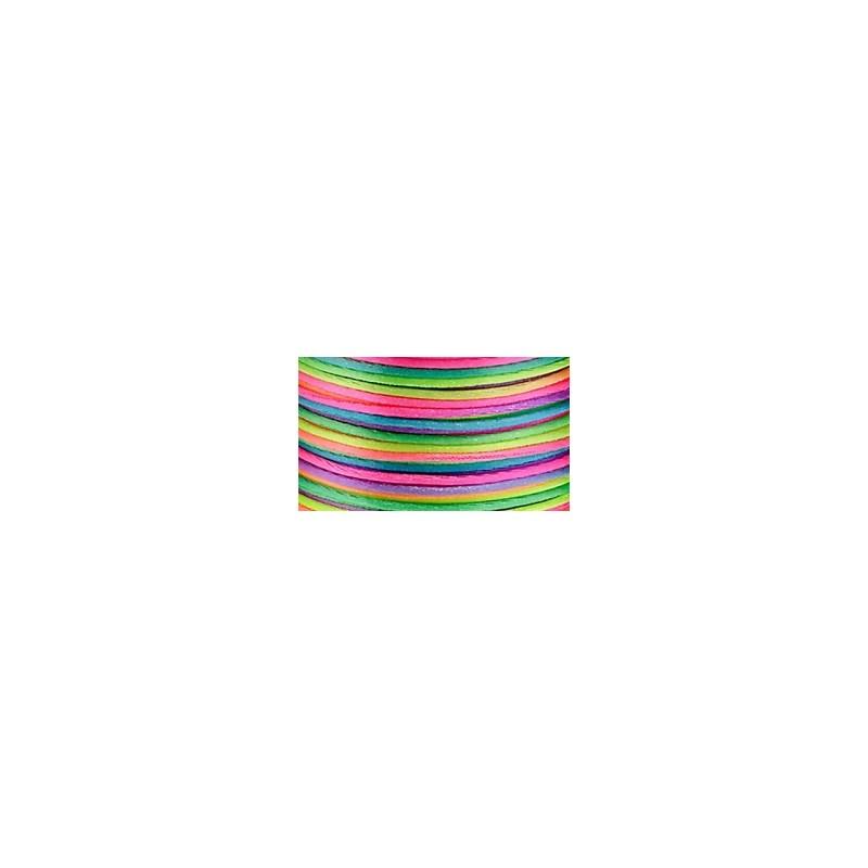 Cordão  de cetim nybc  multicolor -  1 mm c/ 100 mts