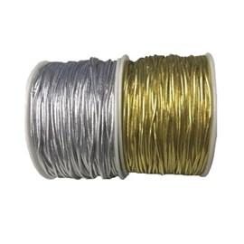 Cordao metalizado com elastico ref.301 / 535104 2 mm x 50mts