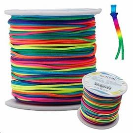 Cordõ de cetim nybc  multicolor -  1 mm c/ 100 mts