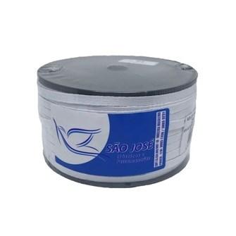 Elastico algodão branco n.10 ( 6,0 mm)  rolo c/ 100 mts