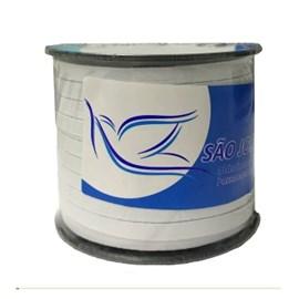 Elastico algodão branco n.14  (9,0 mm)  rolo c/ 100 mts