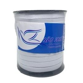 Elastico algodão branco n.18 (11,0 mm)  rolo c/ 100 mts
