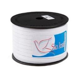 Elastico algodão n.12 branco   (7,0 mm)  rolo c/ 100 mts