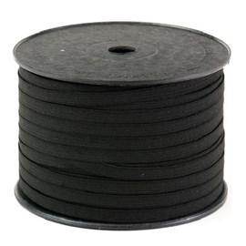 Elastico algodão n.12 preto   (7,0 mm)  rolo c/ 100 mts