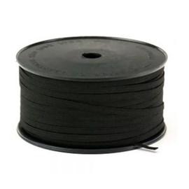 Elastico algodão preto n.08 (5,0 mm) rolo c/ 100 mts