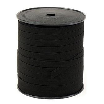 Elastico algodão preto n.18 (11,0 mm)  rolo c/ 100 mts