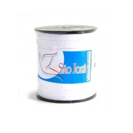 Elastico em algodão branco n.16 largura 10mm rolo c/ 100 mts