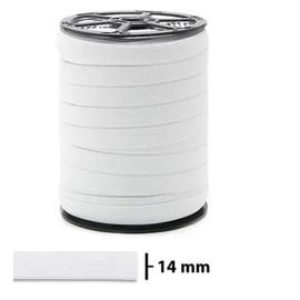 Elastico poliester jaragua branco n.15 largura 14 mm c/ 100 mts