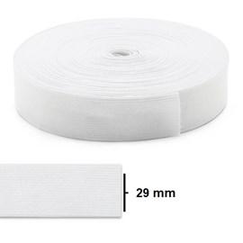 Elastico poliester jaragua branco n.30 largura: 29 mm pç c/ 25 mts