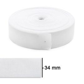 Elastico poliester  jaragua branco n.35 largura 34 mm pç c/ 25 mts