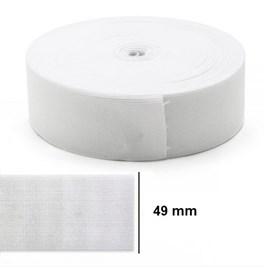 Elastico poliester jaragua branco n.50 largura: 49 mm  pç c/ 25 mts