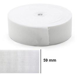 Elastico poliester jaragua branco n.60 largura 59 mm c/ 25 mts
