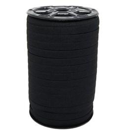 Elastico poliester jaragua preto n.10 largura: 9 mm  pç c/ 100 mts