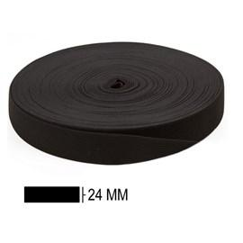 Elastico poliéster jaragua preto n. 25 larg: 24 mm pç c/ 25 mts