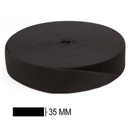 Elastico poliester  jaragua preto n.35 largura 34 mm pç c/ 25 mts