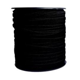 Elastico poliester jaragua preto n.5 largura: 05 mm  pç c/ 100 mts