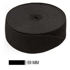 Elastico poliester jaragua preto n.60 largura 59 mm c/ 25 mts