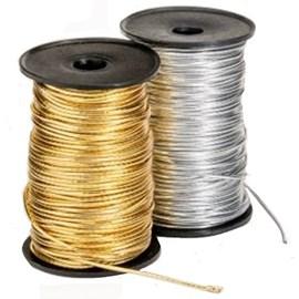 Elastico roliço 6 r metalizado - rolo c/ 50 mts