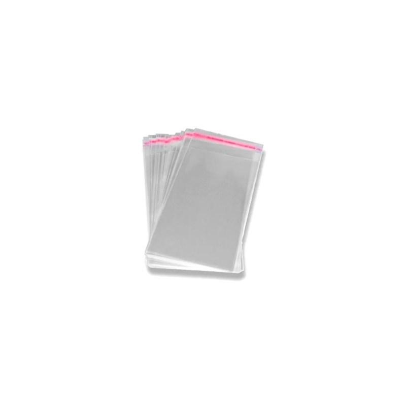 Embalagem em plastico (p/ laços) aprox. 15 x 10 cm c/ 100 unds