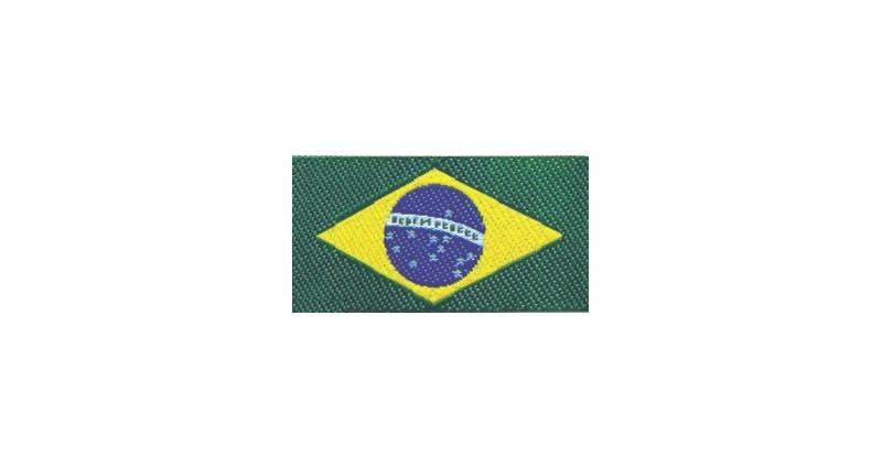 Etiq.bordada brasil 22059 c/ 10 unds