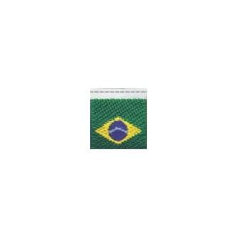 Etiqueta bordada  brasil 18495  tam: 1,00cm x 1,5 cm pacote c/ 10 unds