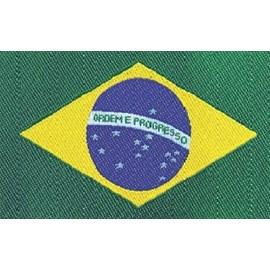 Etiqueta bordada  brasil 22051 tam: 5,00cm x 9,00 cm pacote com 10 unds