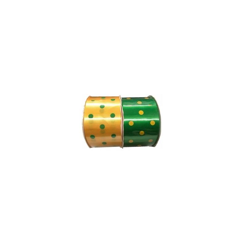 Fita cetim  bolinha ref.fceb10 - 50/30-50 mm c/ 10 mts