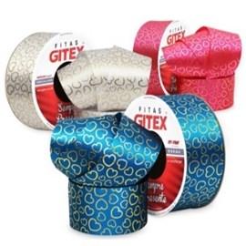 Fita cetim estampada gitex 1564/9  38mm c/ 10 mts