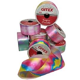 Fita cetim estampada gitex  4600/ 9   38 mm c/ 10 mts