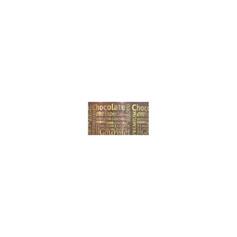 Fita cetim estampada gitex chocolate  1550/9   38 mm c/ 10 mts