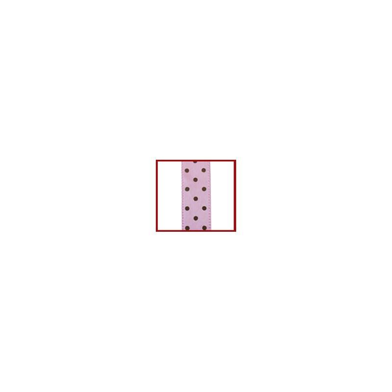 Fita cetim estampada helo poa 9.5 mm c/ 10 mts