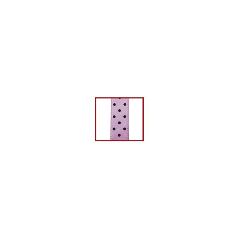 Fita cetim estampada helo poa 9.5 mm c/ 9,14mts
