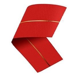 Fita cinderela gorgurão linha dourada - 38 mm c/ 10 mts