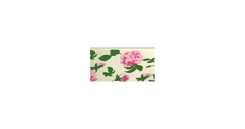 Fita de cetim flor peonia ref.251600 - 2.5 c/ 10 mts