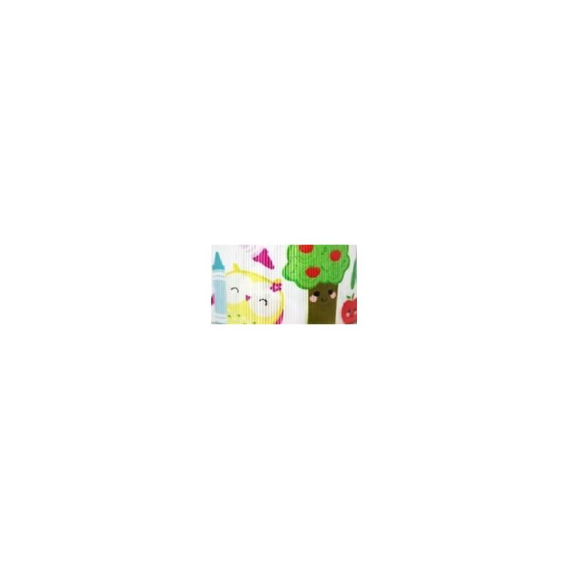 Fita de gorg. estampada melaço - 4,0 cm c/ 10 mts - promoção